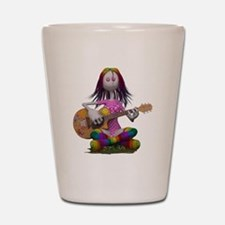 Hippy Chick ~ Peace and Love Shot Glass