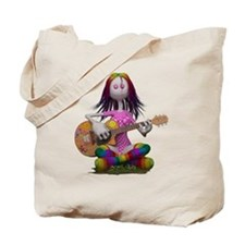 Hippy Chick ~ Peace and Love Tote Bag