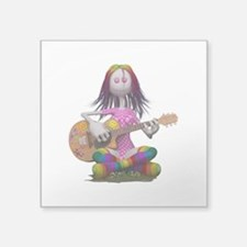 Hippy Chick ~ Peace and Love Sticker