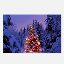 Christmas Tree With Lights Postcards (Package of 8