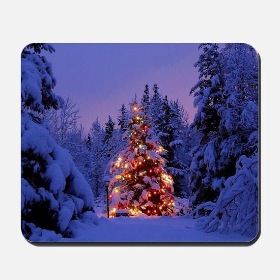 Christmas Tree With Lights Mousepad