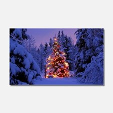 Christmas Tree With Lights Car Magnet 20 x 12