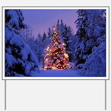 Christmas Tree With Lights Yard Sign