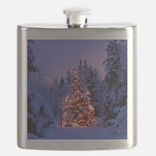 Christmas Tree With Lights Flask