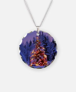 Christmas Tree With Lights Necklace