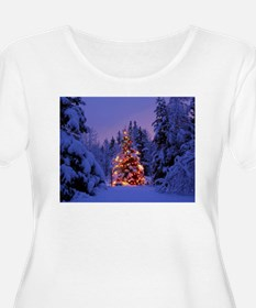 Christmas Tree With Lights Plus Size T-Shirt