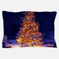 Christmas Tree With Lights Pillow Case