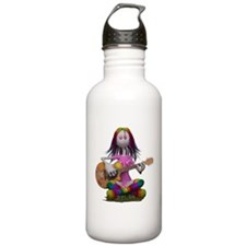 Hippy Chick ~ Peace an Water Bottle