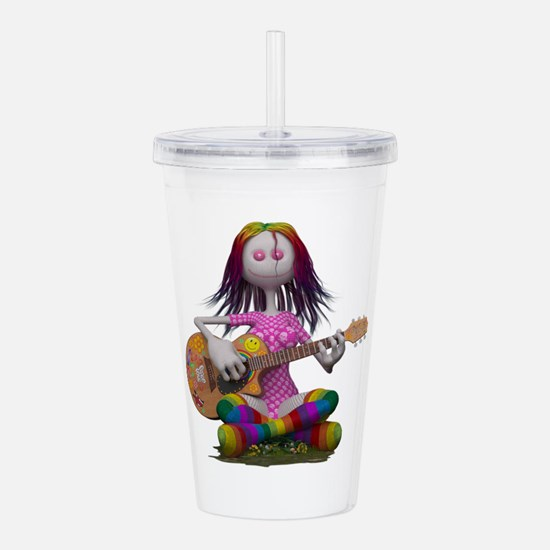 Hippy Chick ~ Peace an Acrylic Double-wall Tumbler
