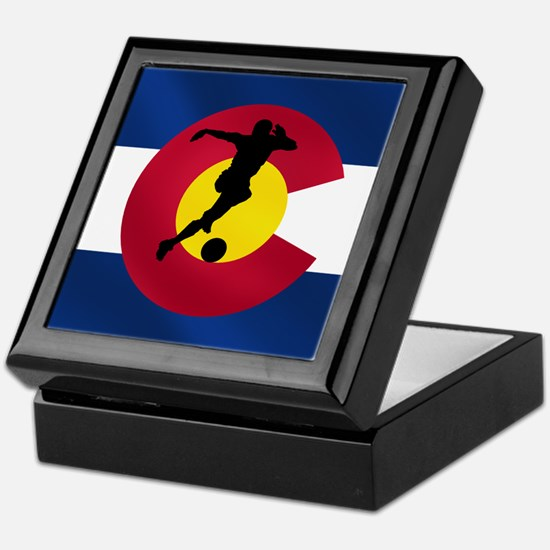 Colorado Soccer Flag Keepsake Box