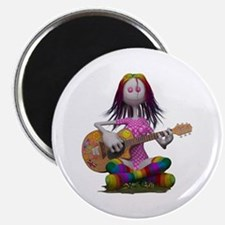 Hippy Chick ~ Peace and Love Magnets
