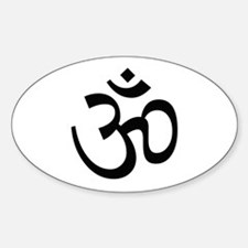 Aum Sign - Aum Symbol Oval Decal