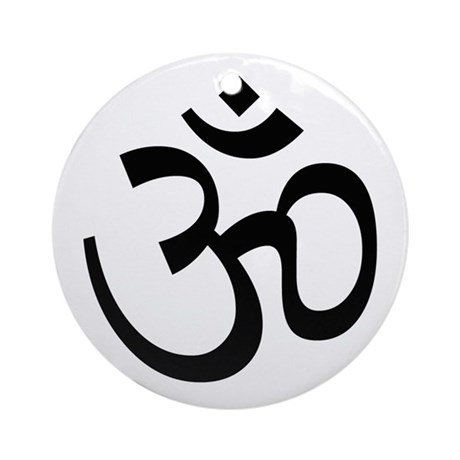 Aum Sign - Aum Symbol Ornament (Round)