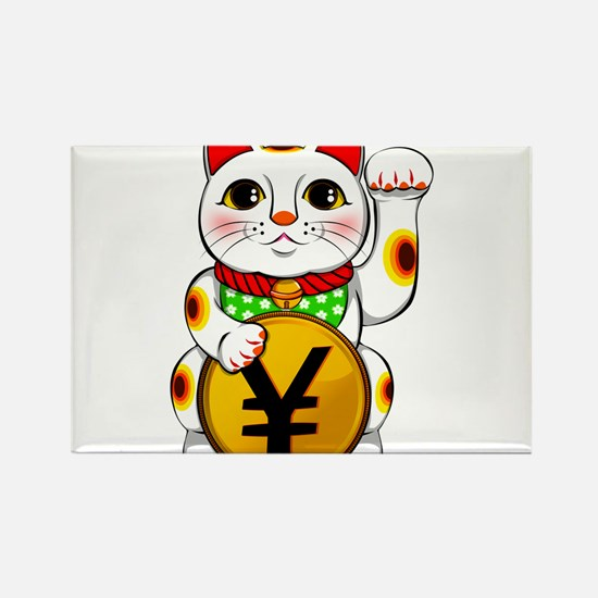 Yen Yuan Lucky Cat Maneki Neko Magnets