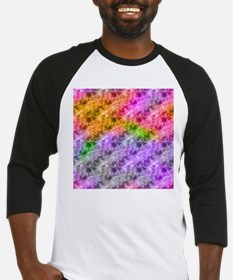 Crumpled Exotic Pattern Abstract Baseball Jersey