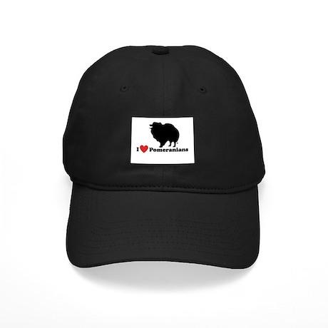 I love Pomeranians Black Cap