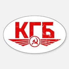 KGB Oval Decal