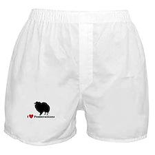 I love Pomeranians Boxer Shorts