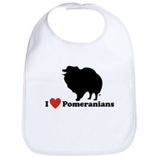 I love Pomeranians Bib