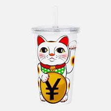 Yen Yuan Lucky Cat Man Acrylic Double-wall Tumbler