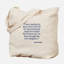 President Reagan on Moses VS. Congress Tote Bag