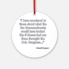 President Reagan on Moses VS. Congress Ornament (R