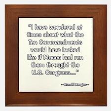 President Reagan on Moses VS. Congress Framed Tile
