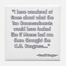 President Reagan on Moses VS. Congress Tile Coaste