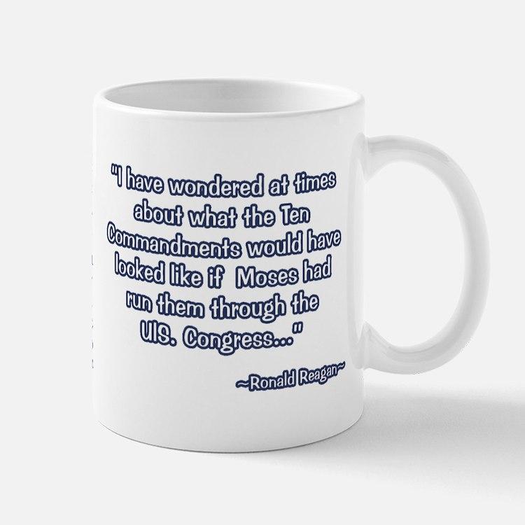 President Reagan on Moses VS. Congress Mug