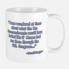 President Reagan on Moses VS. Congress Small Small Mug