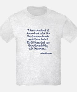 President Reagan on Moses VS. Congress T-Shirt