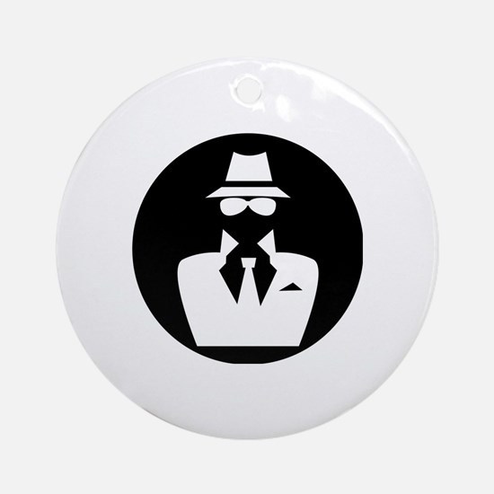 white hat hacker GRAPHICS Round Ornament