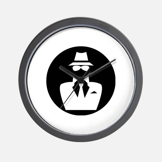 white hat hacker GRAPHICS Wall Clock