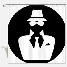 white hat hacker GRAPHICS Shower Curtain