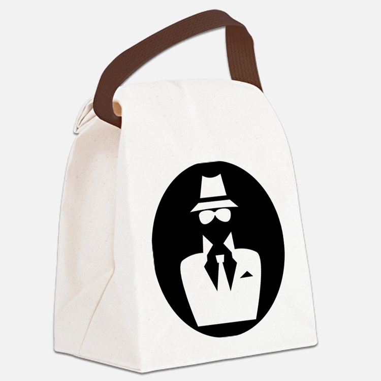 white hat hacker GRAPHICS Canvas Lunch Bag