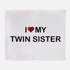 Cute Twin sister Throw Blanket