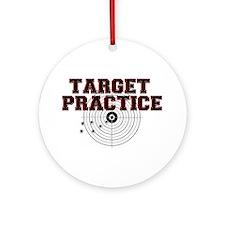 TARGET PRACTICE Round Ornament