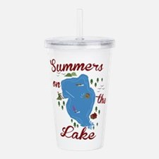 Summers On Lake Acrylic Double-wall Tumbler