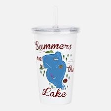 Summers On Lake Acrylic Double-wall Tumbler