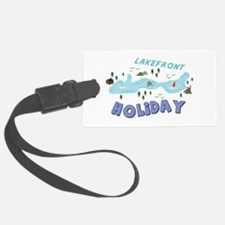 Lakefront Holiday Luggage Tag