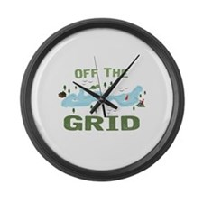 Off the Grid Large Wall Clock