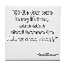 President Reagan on Four Wars Tile Coaster