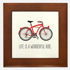 Life is a Wonderful Ride Framed Tile
