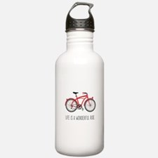 Life is a Wonderful Ride Water Bottle
