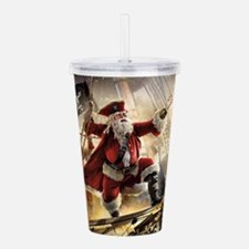 Santa Is A Pirate Acrylic Double-wall Tumbler