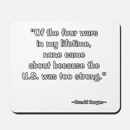 President Reagan on U.S. Strength Mousepad