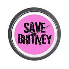Save Britney Wall Clock