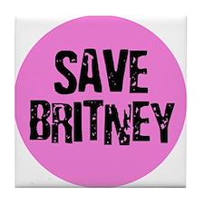 Save Britney Tile Coaster