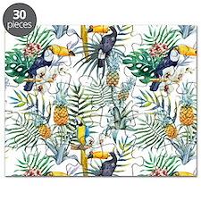 Vintage Chic Pinapple Tropical Hibiscus Flo Puzzle