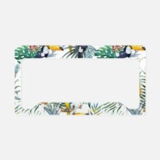Vintage Chic Pinapple Tropica License Plate Holder